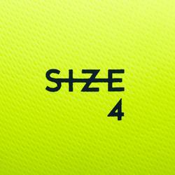 4號混合足球F100-黃色/粉紅色