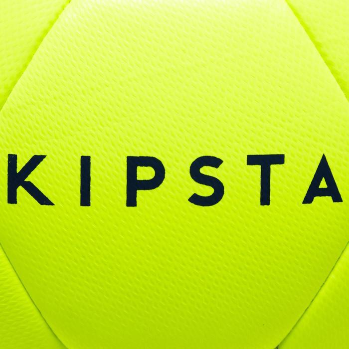 Balón de Fútbol Kipsta Híbrido F100 talla 4 amarillo/rosa