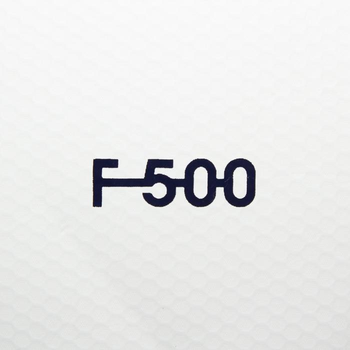 Balón de fútbol Híbrido F500 talla 4 blanco azul verde