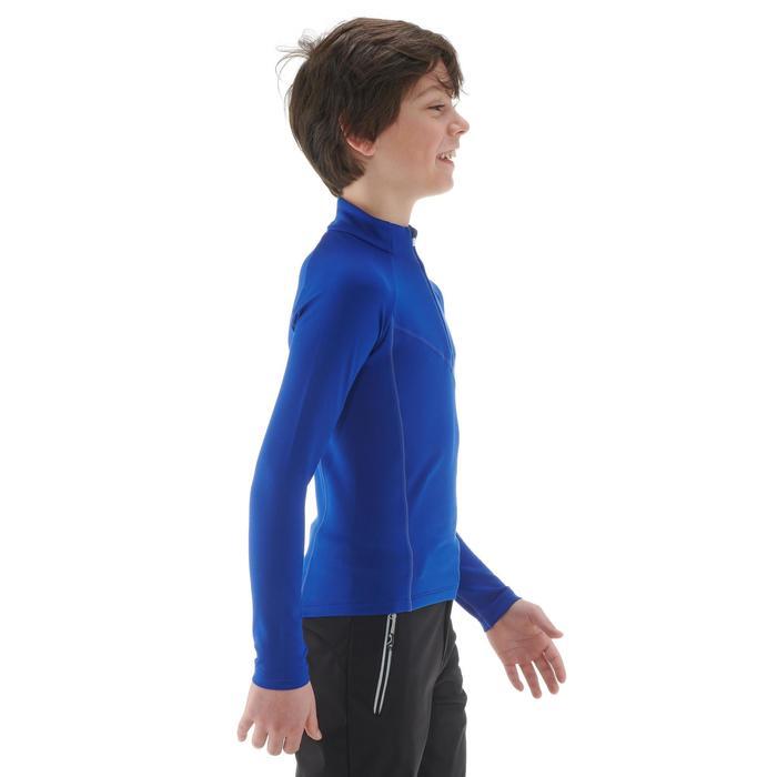 Warm langlaufshirt voor kinderen XC S T-S 100 donkerblauw
