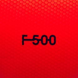 Balón de fútbol Híbrido F500 talla 5 rojo/azul