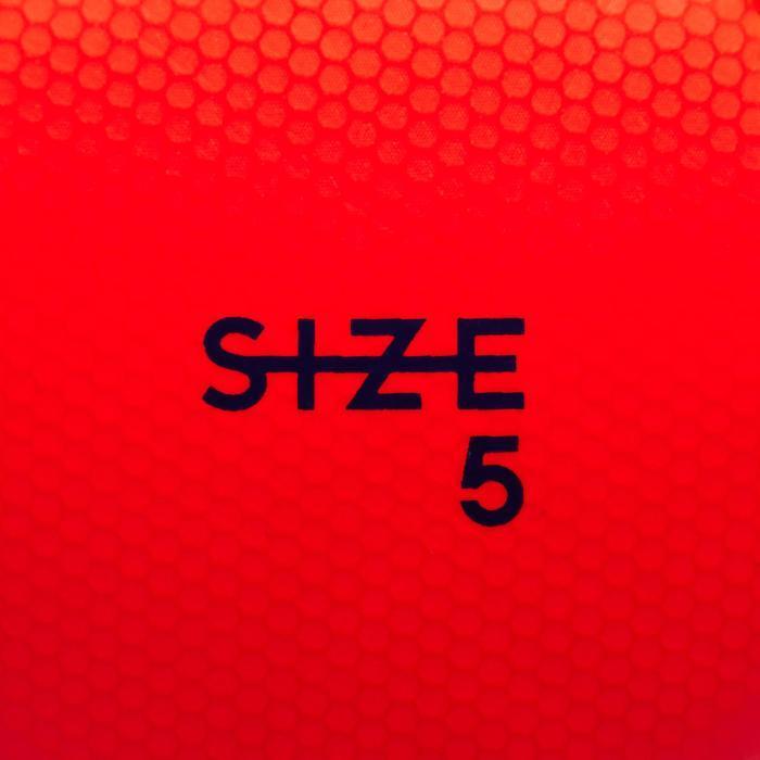 Fußball F500 Hybrid Größe 5 rot/blau