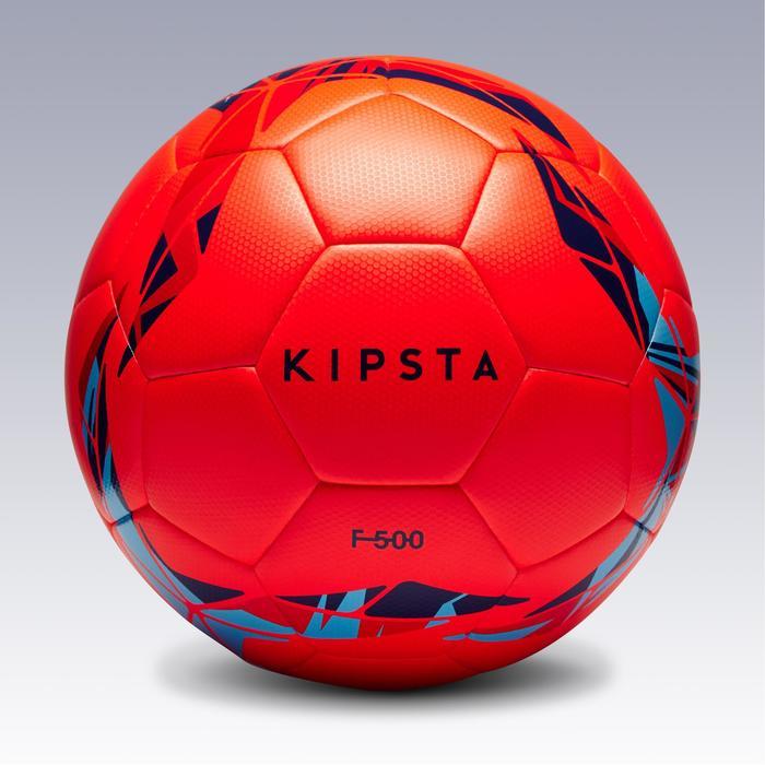 Voetbal F500 hybride maat 5 rood/blauw