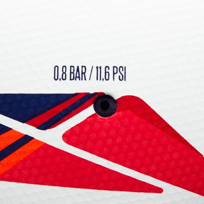 Ballon de football Hybride F500 taille 5 blanc rouge