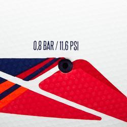 Fußball F500 Hybrid Gr. 5 weiß/rot