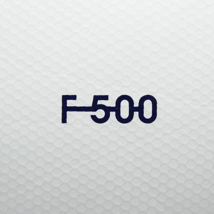 Balón de fútbol Híbrido F500 talla 5 blanco rojo