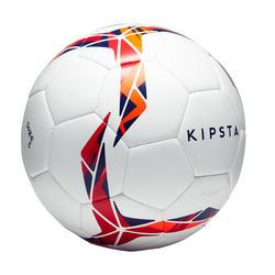 Ballon de soccer Hybride F500 taille 5 blanc rouge