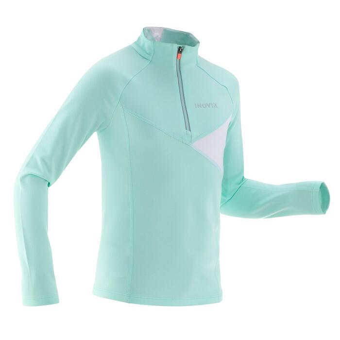 Camiseta cálida de esquí de fondo niña XC S T-S 100 azul claro
