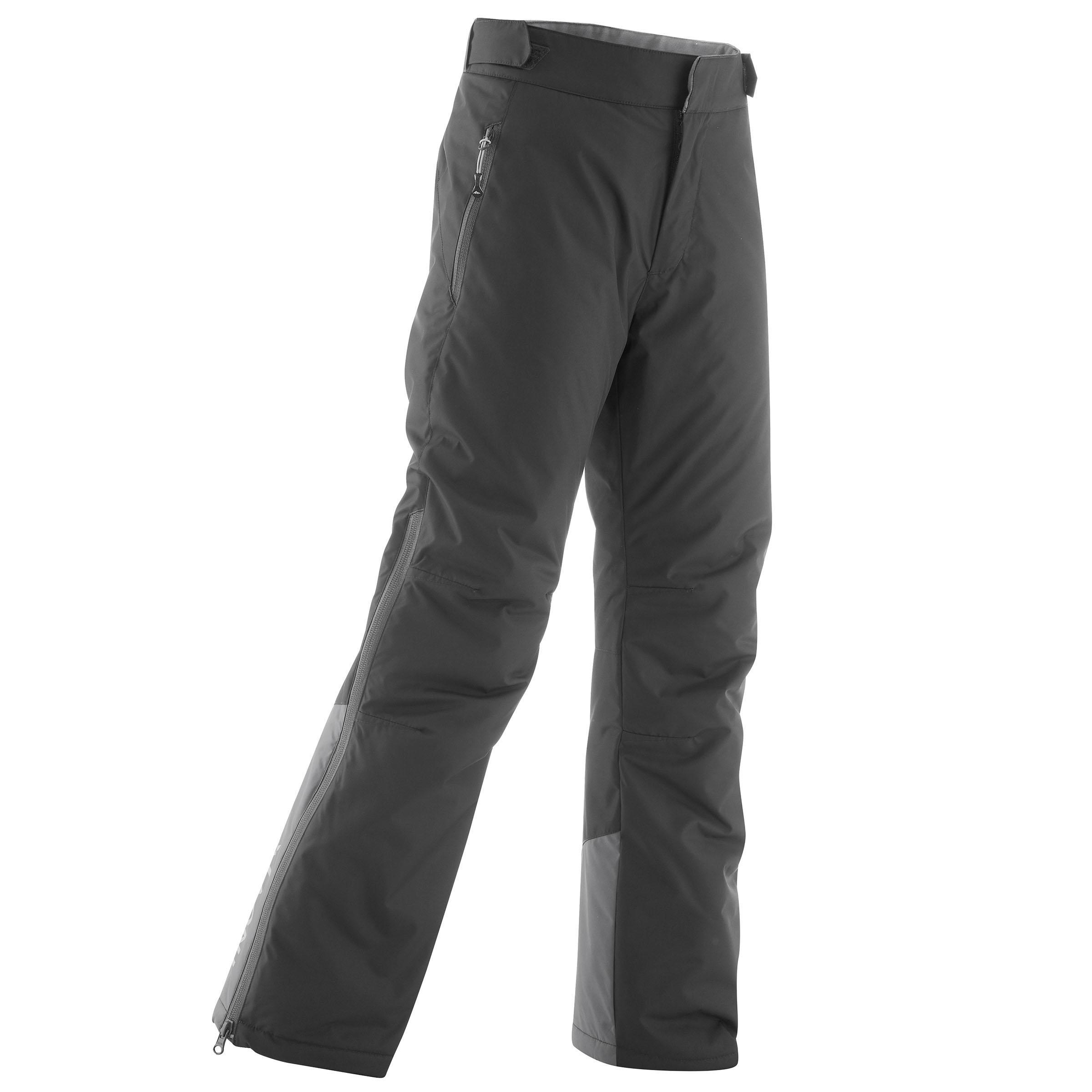 Pantalon chaud de ski de fond gris xc s pant 100 enfant inovik