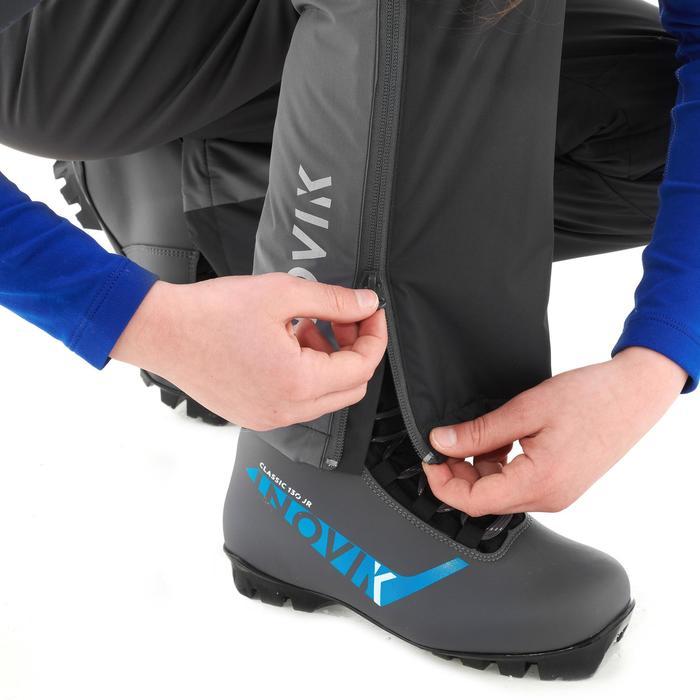 Pantalon chaud de ski de fond gris XC S PANT 100 enfant