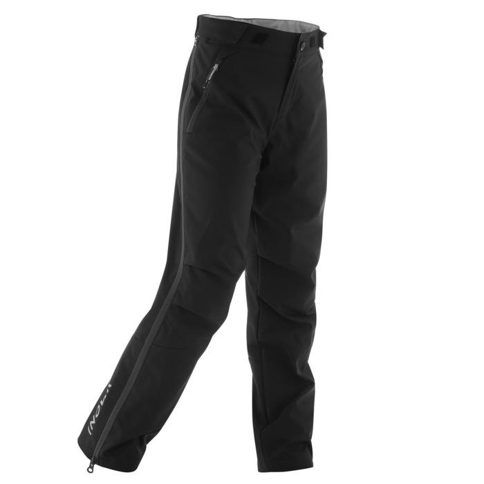 Surpantalon ski de fond coupe vent junior noir