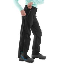 Surpantalon de ski de fond noir XC S OVERP 150 ENFANT