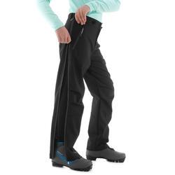 Surpantalon de ski de fond noir XC S SURPANTALON 150 ENFANT