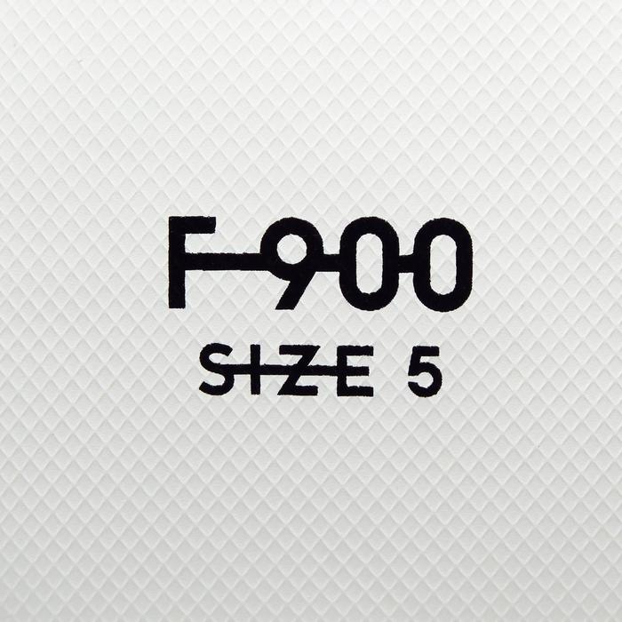 Ballon de football F900 FIFA Pro thermocollé taille 5 blanc vert bleu