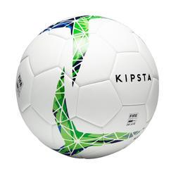 Voetbal F900 FIFA Pro thermisch gelijmd maat 5 wit/groen/blauw