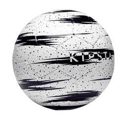 Balón Fútbol Playa Kipsta Sporadic Talla 5 Blanco Negro