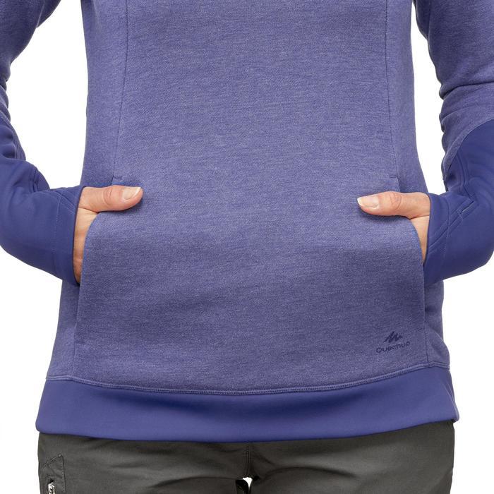 女款健行立領針織衫NH500-藍紫色