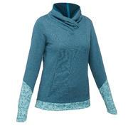 Suéter senderismo en la naturaleza mujer NH500 azul turquesa