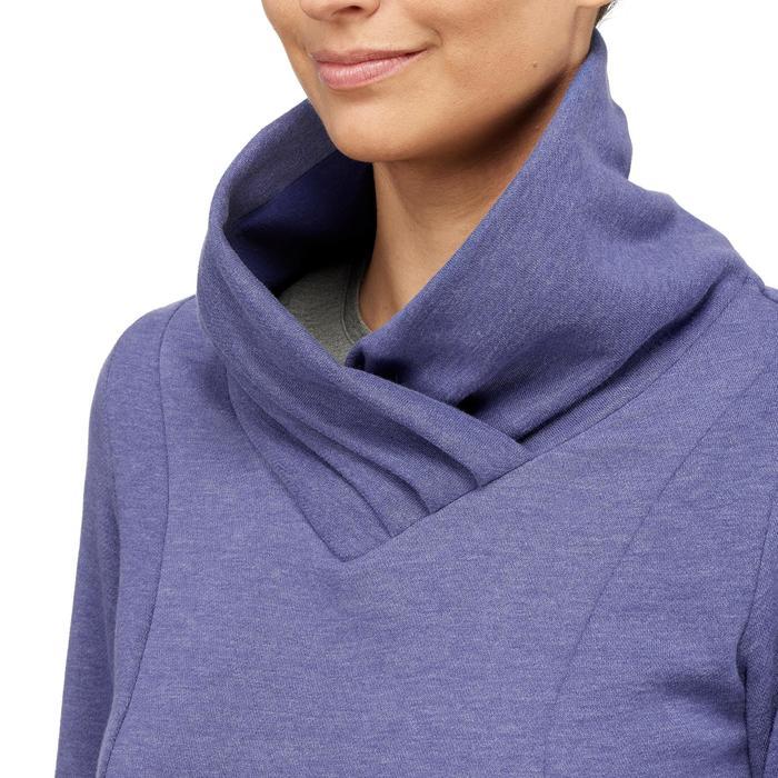 Pull randonnée nature femme NH500 bleu violet