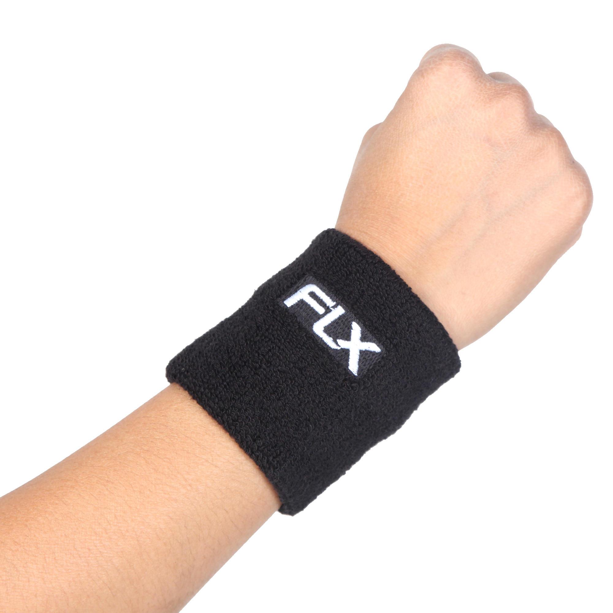 FLX Wrist Band, Super Absorbent, Black, Free Size