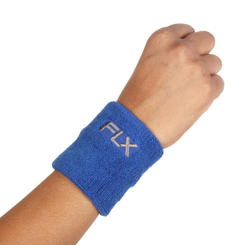 FLX Soft Wrist Band, Super Absorbent, Blue - Free Size
