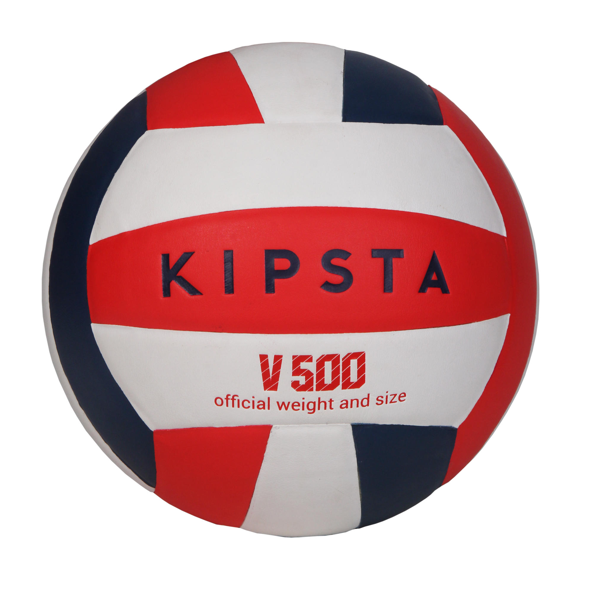 Ballon de volley-ball V500 blanc, bleu et rouge