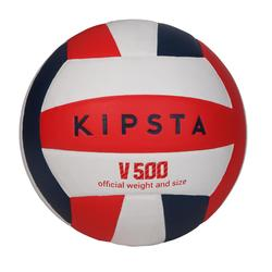 Volleyball V500 weiß/blau/rot
