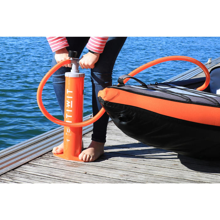 Bomba Manual Doble Acción Kayak Itiwit X 2,6L Naranja
