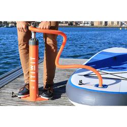 雙向20 psi高壓立式划槳手壓打氣筒-橘色