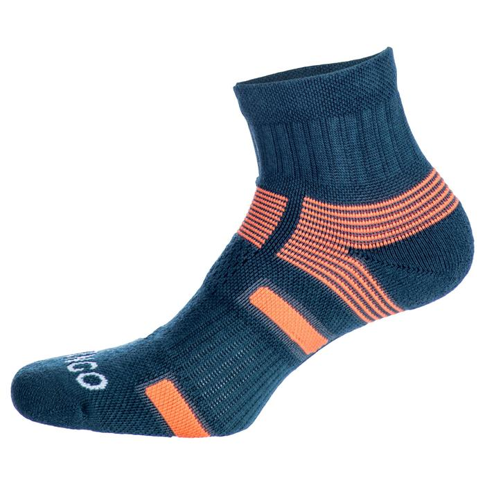 CHAUSSETTES DE SPORT MI- HAUTES ARTENGO RS 560 GRIS ORANGE LOT DE 3