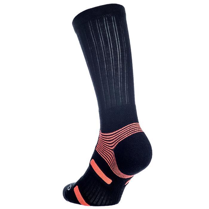 Hoge sportsokken voor volwassenen Artengo RS 560 zwart/oranje 3 paar
