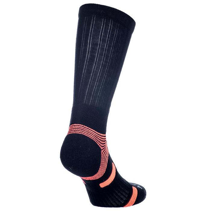 3雙入高筒運動襪RS 560-黑色/橘色