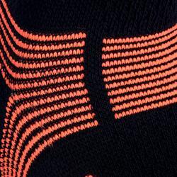 Hoge sportsokken Artengo RS 560 zwart/oranje 3 paar