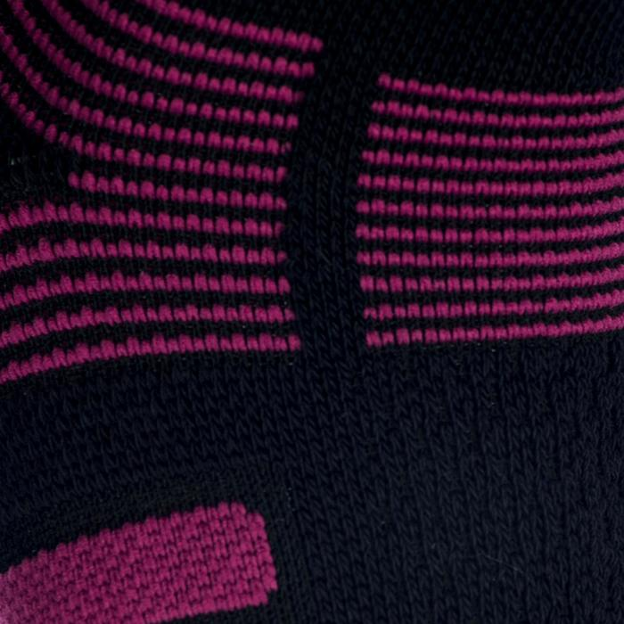 Tennissocken Artengo RS 560 Mid 3er Pack schwarz/violett