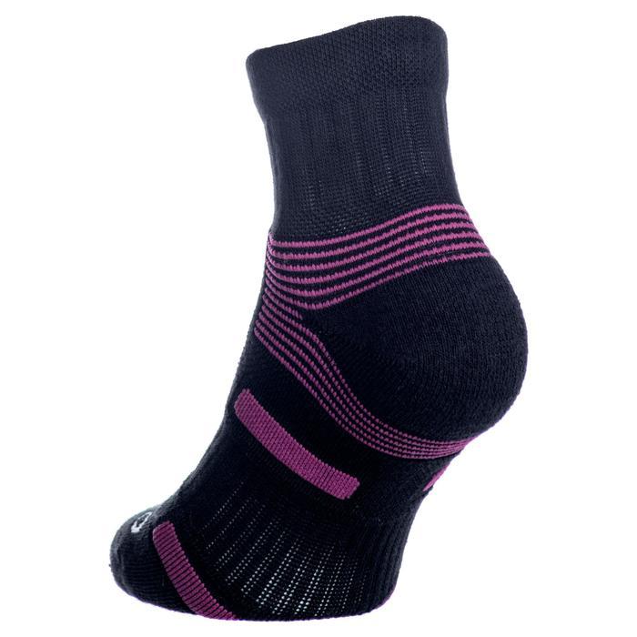 Halfhoge sportsokken voor volwassenen Artengo RS 560 zwart paars set van 3 paar