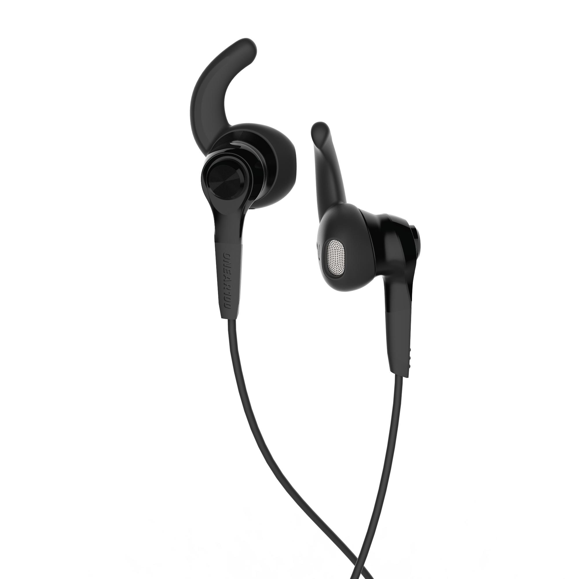AURICULARES RUNNING ONEAR 100 NEGRO