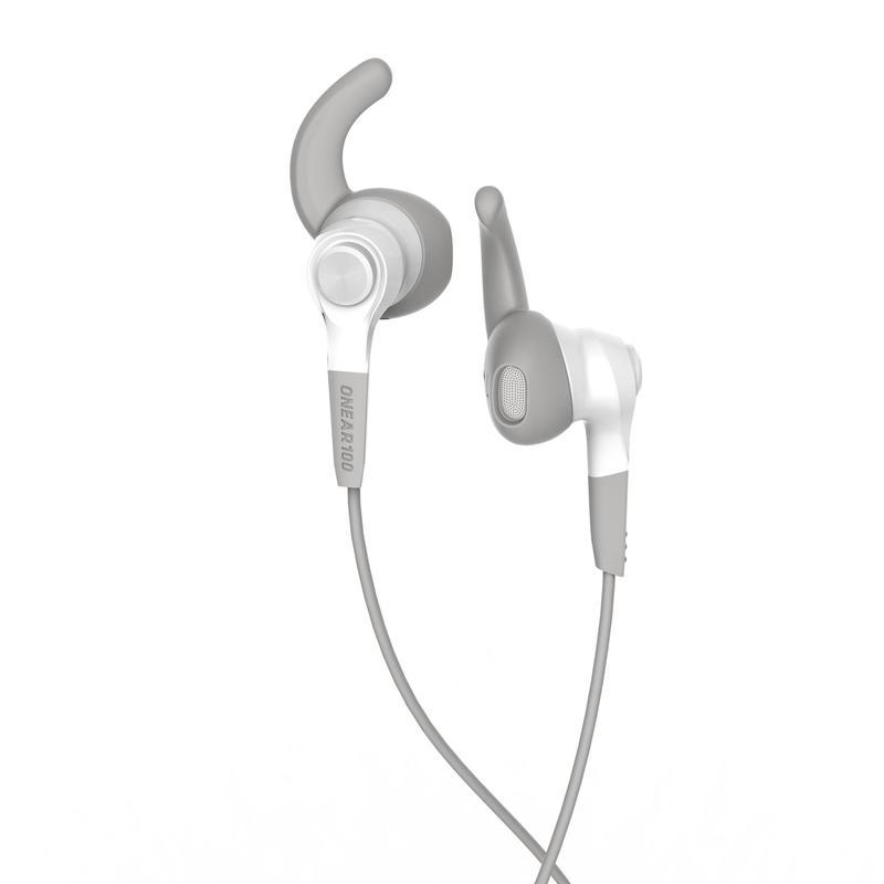 หูฟังสำหรับวิ่งรุ่น ONEAR 100 (สีขาวและเทา)