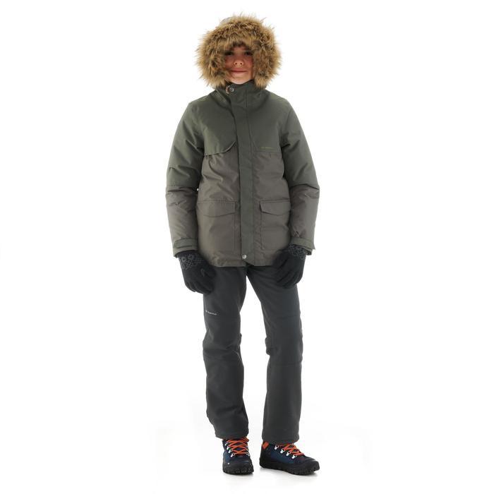Wanderjacke SH500 X-Warm Kinder khaki