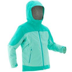 Warme waterdichte 3-in-1 jas voor de sneeuw meisjes SH500 X-Warm 8-14 jaar groen