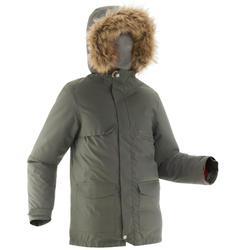 Wanderjacke Winterwandern SH500 X-Warm Kinder khaki