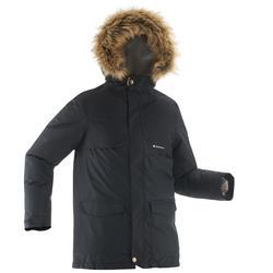 SH500 X-Warm Black Junior Snow Hiking Jacket
