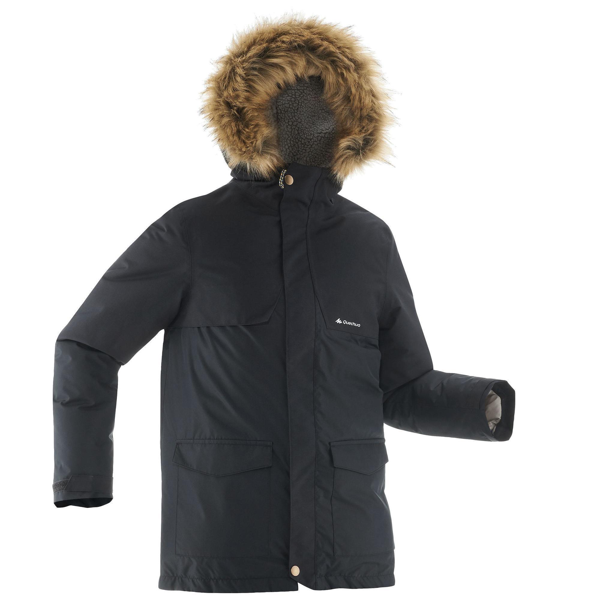 Jungen,Kinder Wanderjacke SH500 X-Warm Kinder schwarz | 03608439420771