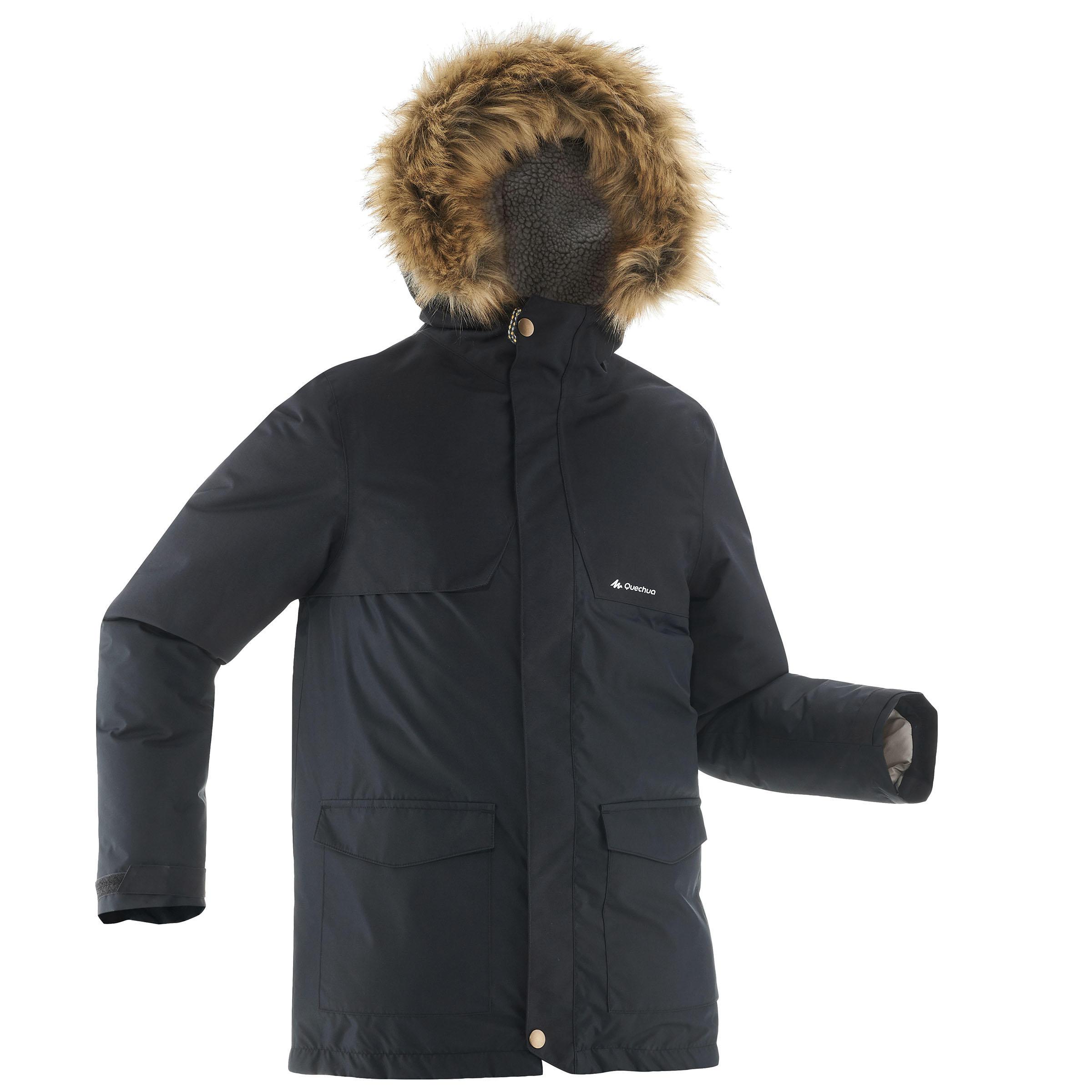 Veste de randonnée neige junior SH500 x-warm noire