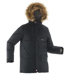 Wanderjacke Winterwandern SH500 X-Warm Kinder schwarz