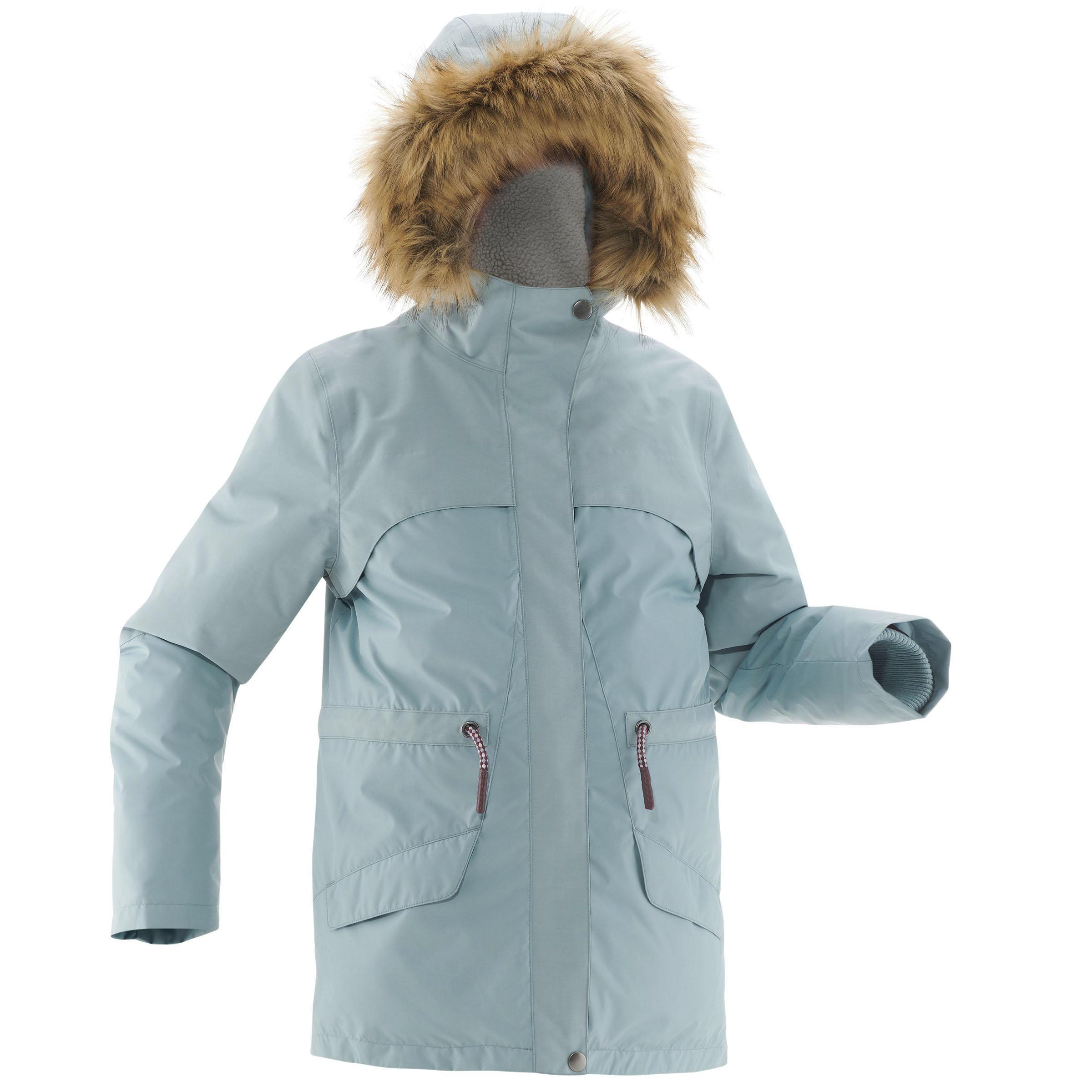 Veste de randonnée neige junior SH500 x-warm ice
