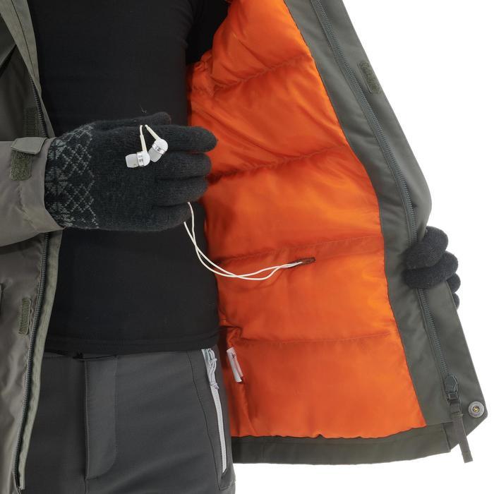 Kinderjas voor sneeuwwandelen SH500 x-warm kaki