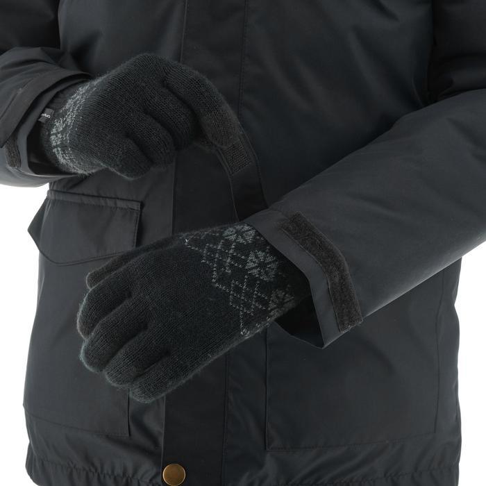 Wanderjacke SH500 X-Warm Kinder schwarz