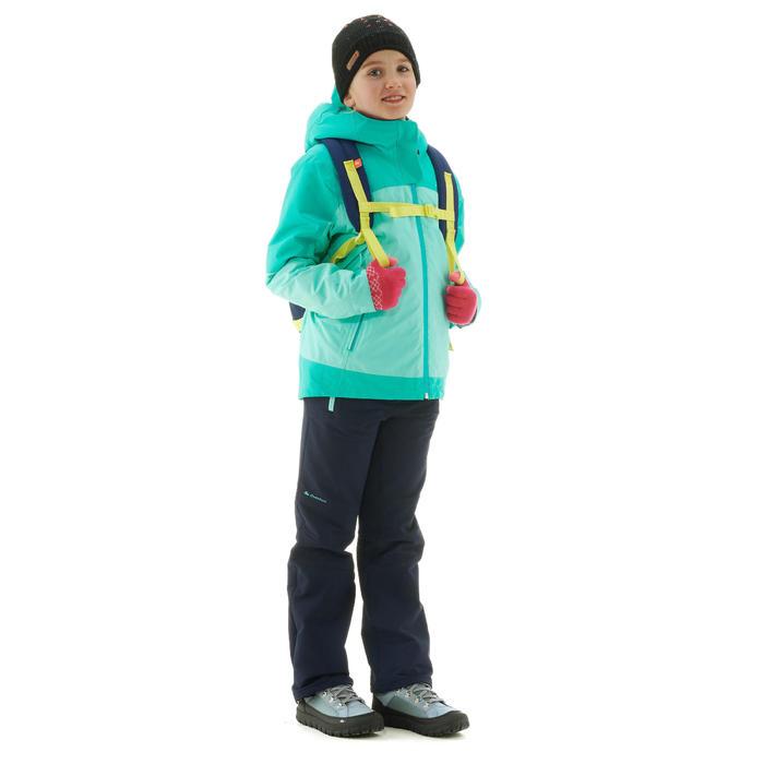 3-in-1-Jacke Winterwandern SH500 X-Warm Kinder grün