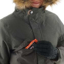 Chaqueta de senderismo nieve júnior SH500 x-warm caqui