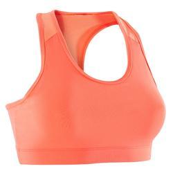 Cardiofitness sportbeha voor dames koraal 100